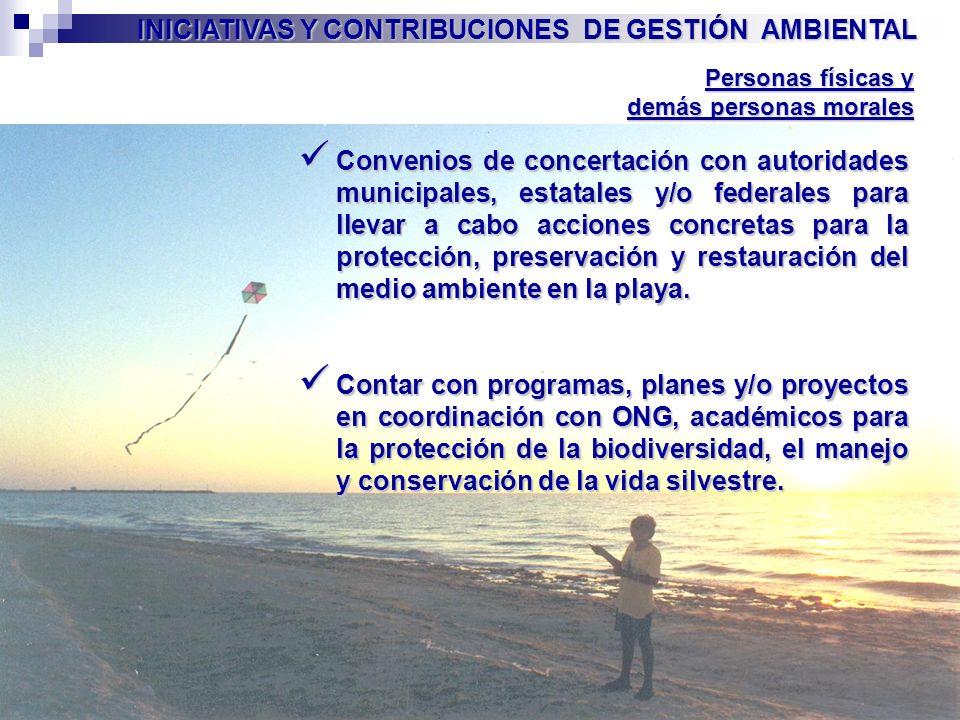 INICIATIVAS Y CONTRIBUCIONES DE GESTIÓN AMBIENTAL