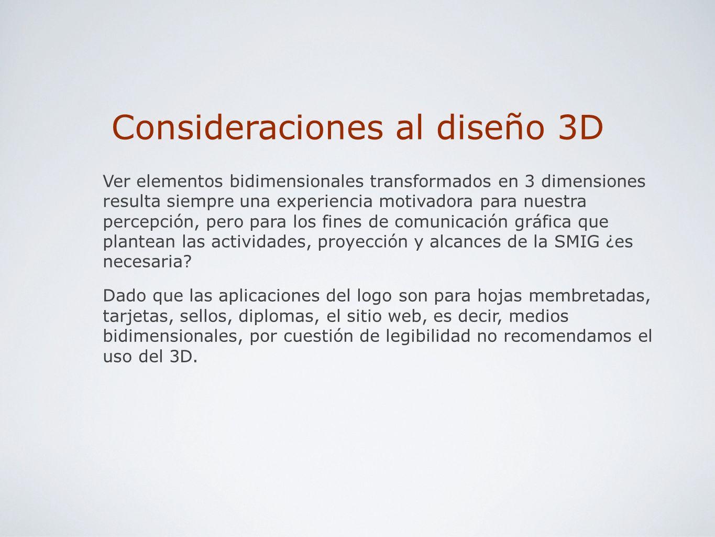 Consideraciones al diseño 3D