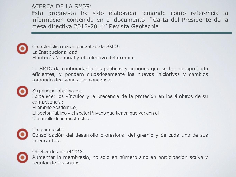 ACERCA DE LA SMIG: