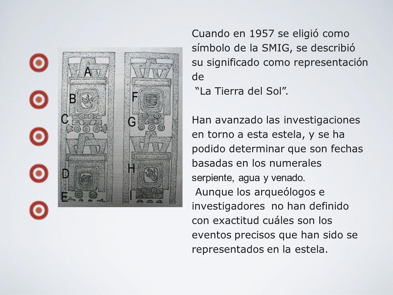Cuando en 1957 se eligió como símbolo de la SMIG, se describió su significado como representación de