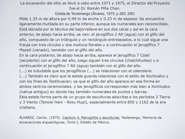 Estela de Teotenango (Álvarez, 1975, p.283, 290)
