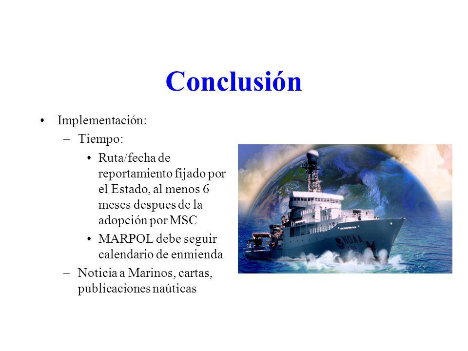 Conclusión Implementación: Tiempo: