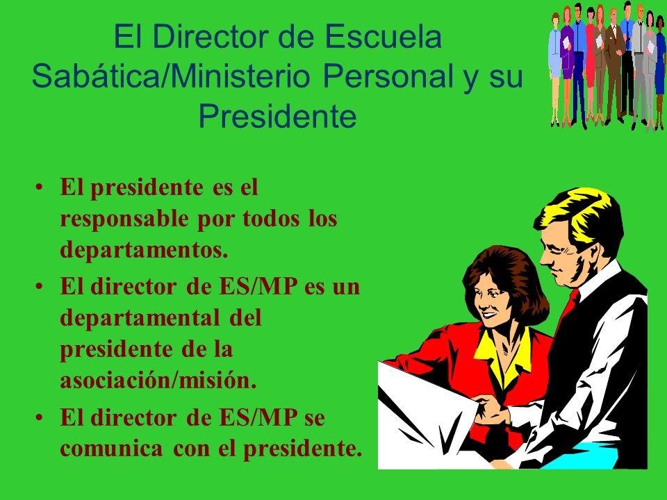 El Director de Escuela Sabática/Ministerio Personal y su Presidente