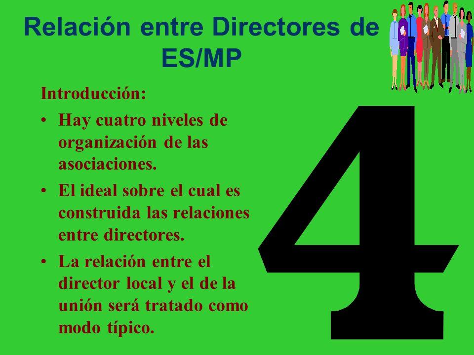 Relación entre Directores de ES/MP