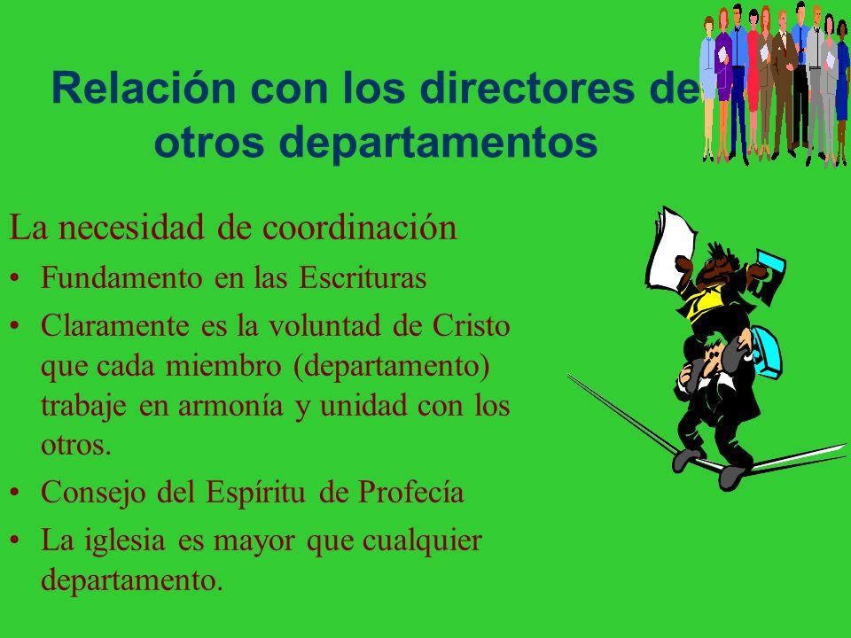 Relación con los directores de otros departamentos