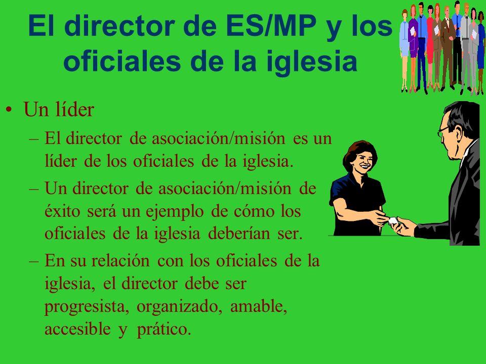 El director de ES/MP y los oficiales de la iglesia