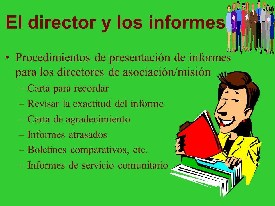 El director y los informes