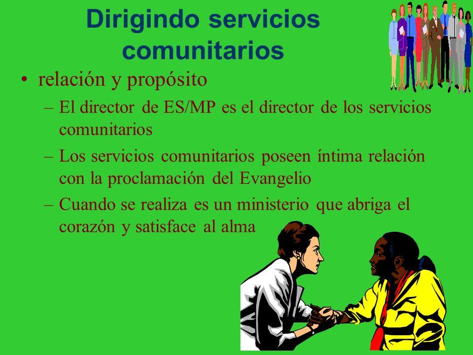 Dirigindo servicios comunitarios