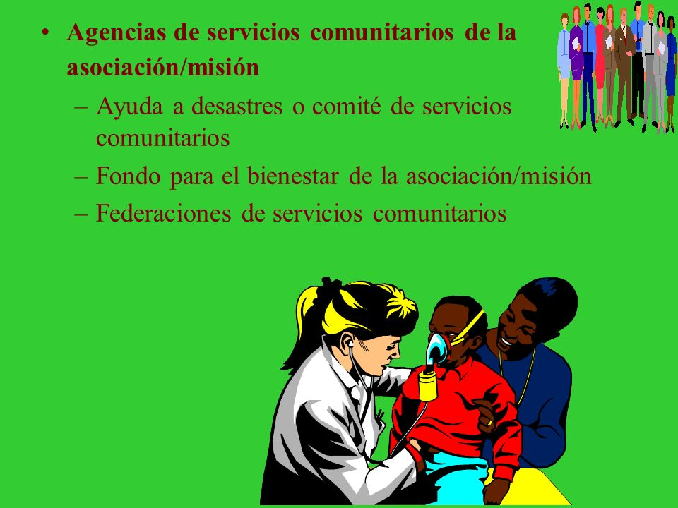 Agencias de servicios comunitarios de la asociación/misión