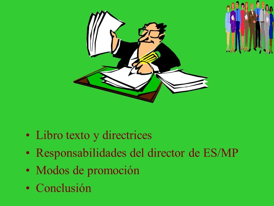 Libro texto y directrices
