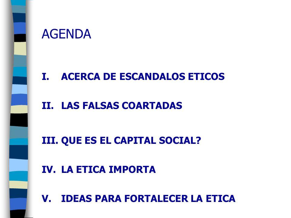 AGENDA ACERCA DE ESCANDALOS ETICOS LAS FALSAS COARTADAS