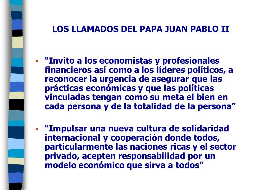 LOS LLAMADOS DEL PAPA JUAN PABLO II