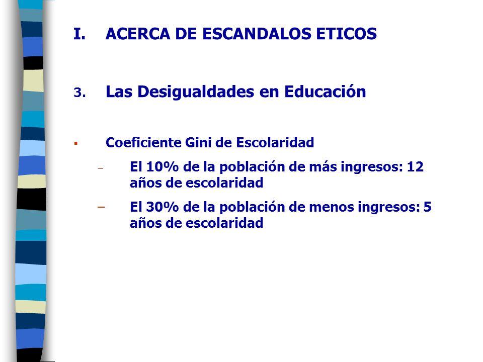 ACERCA DE ESCANDALOS ETICOS