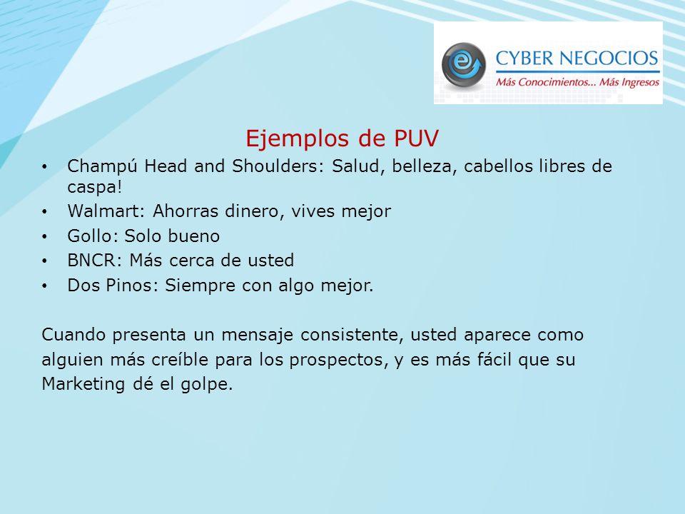 Ejemplos de PUV Champú Head and Shoulders: Salud, belleza, cabellos libres de caspa! Walmart: Ahorras dinero, vives mejor.