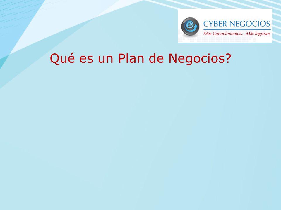 Qué es un Plan de Negocios