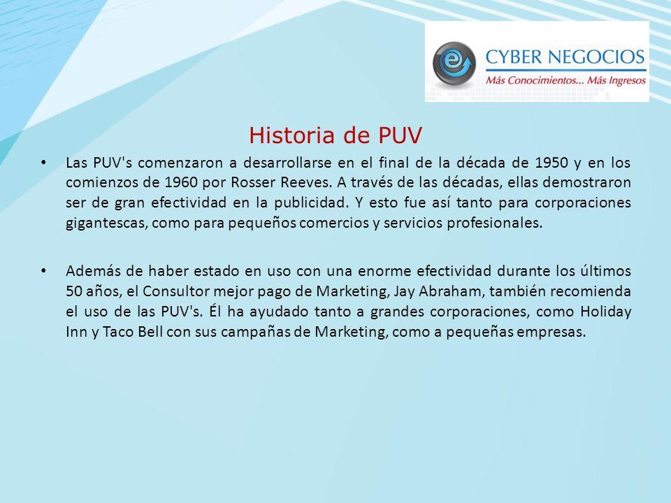 Historia de PUV