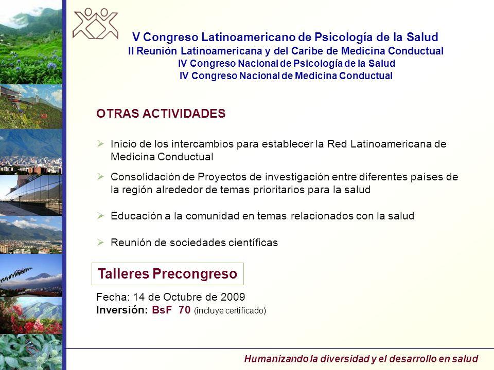 Talleres Precongreso OTRAS ACTIVIDADES