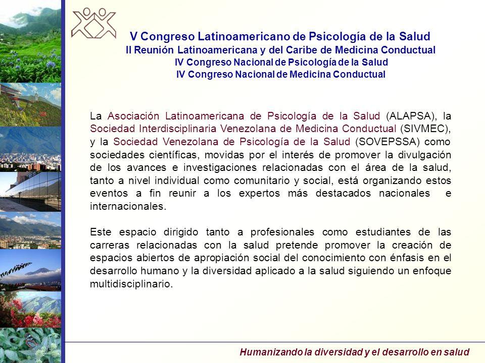 V Congreso Latinoamericano de Psicología de la Salud