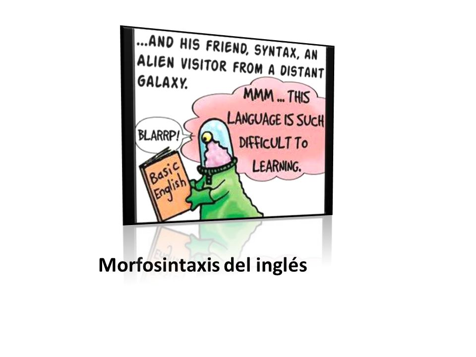 Morfosintaxis del inglés