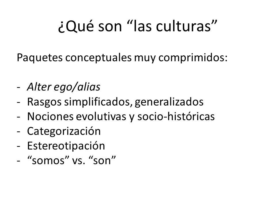¿Qué son las culturas