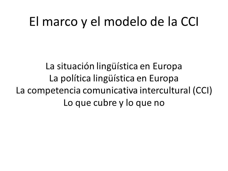 El marco y el modelo de la CCI