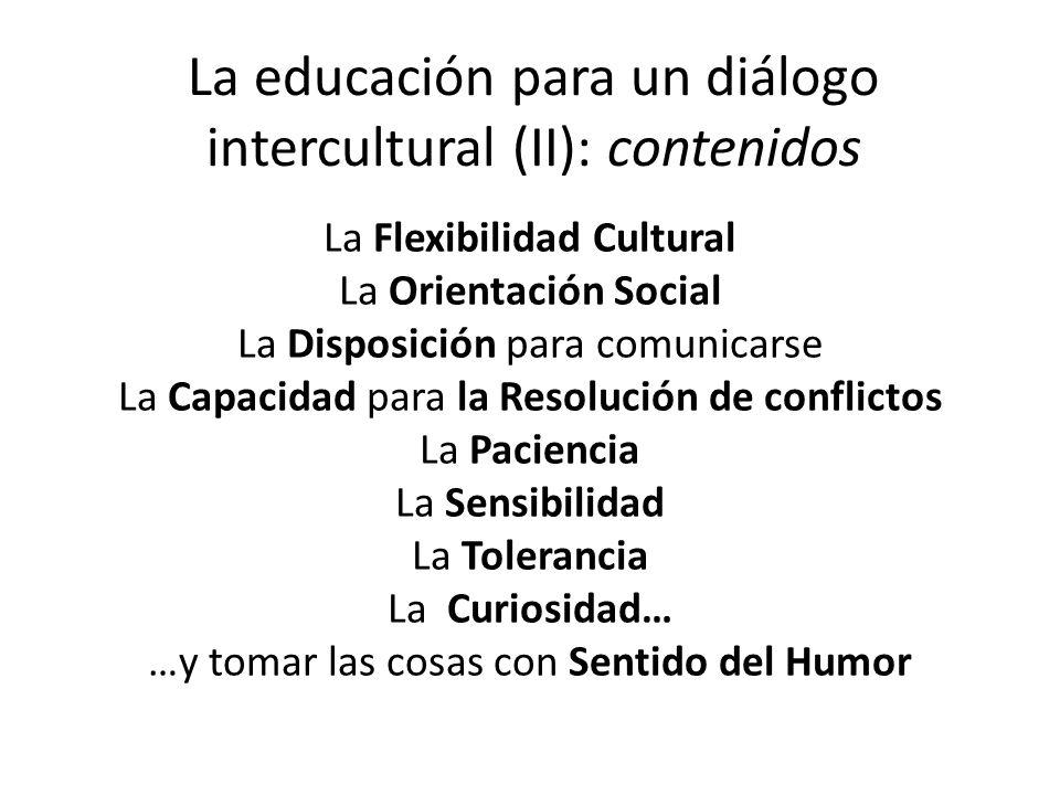 La educación para un diálogo intercultural (II): contenidos