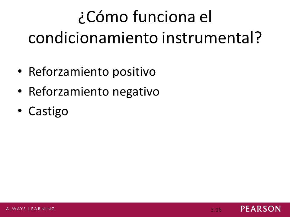¿Cómo funciona el condicionamiento instrumental