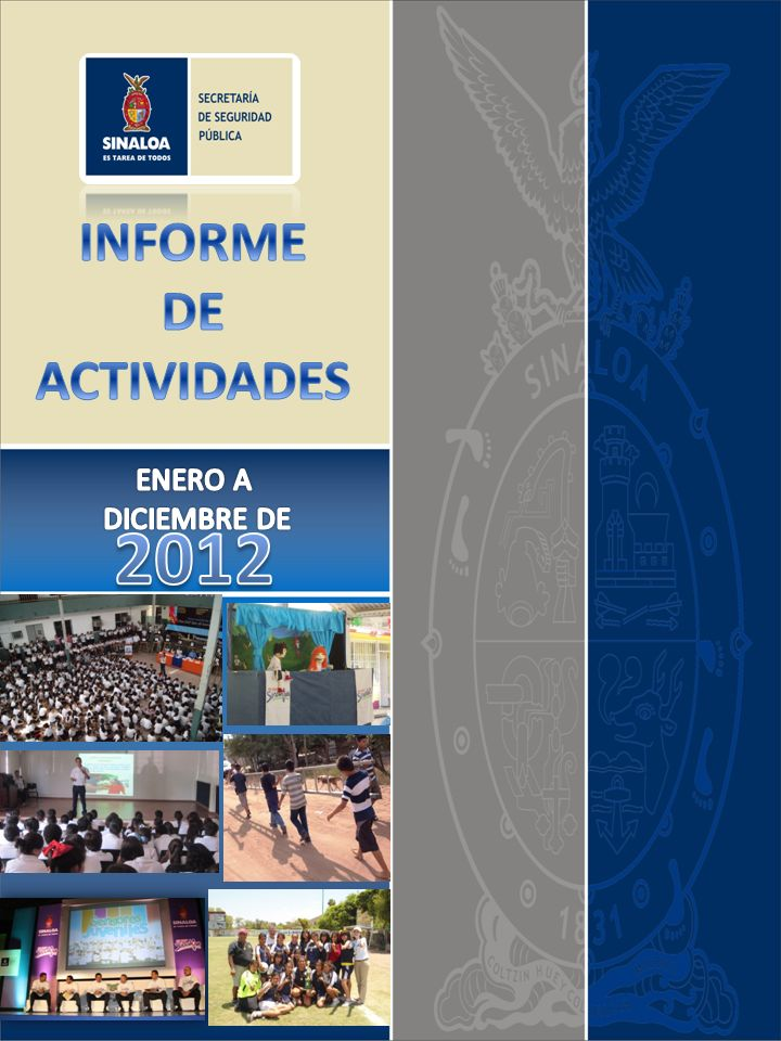 INFORME DE ACTIVIDADES ENERO A DICIEMBRE DE 2012