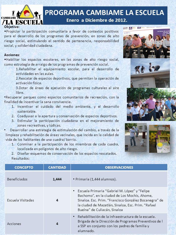 PROGRAMA CAMBIAME LA ESCUELA