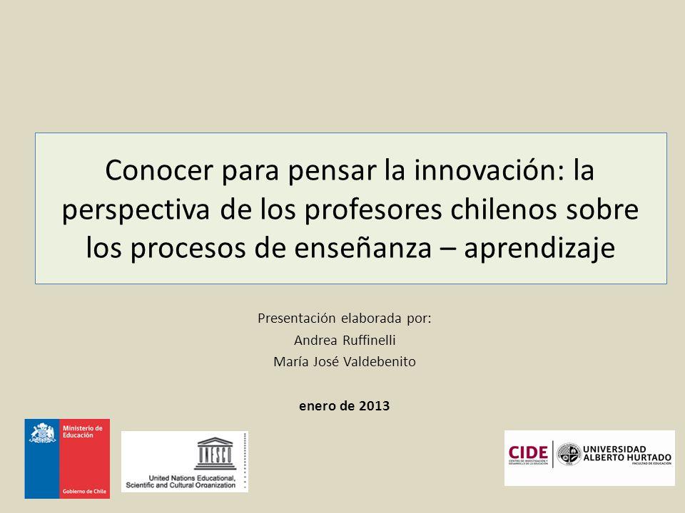 Conocer para pensar la innovación: la perspectiva de los profesores chilenos sobre los procesos de enseñanza – aprendizaje