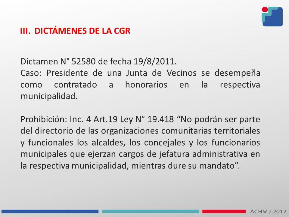 III. DICTÁMENES DE LA CGR