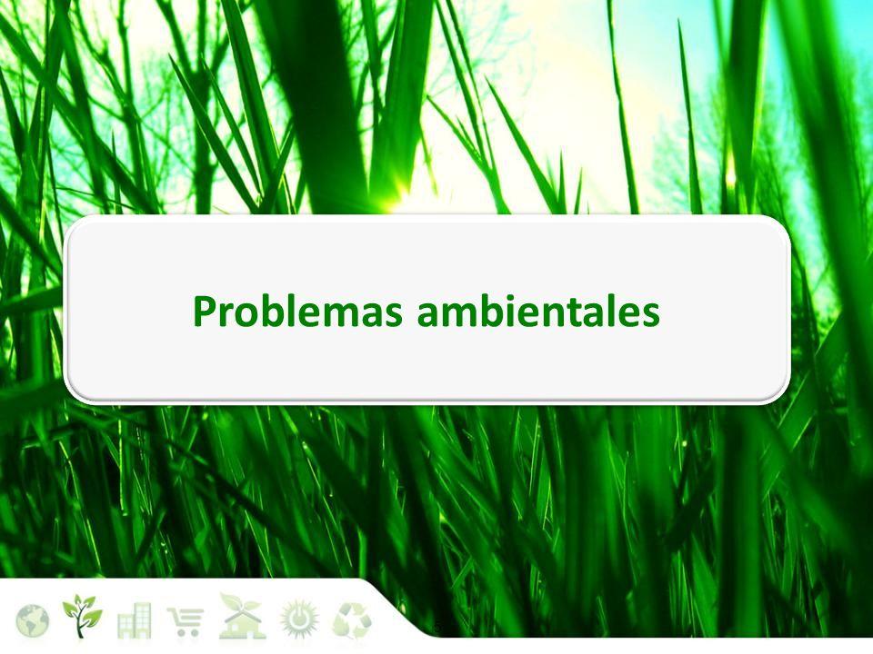 Problemas ambientales Situación medioambiental