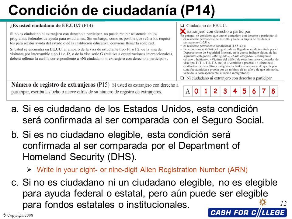 Condición de ciudadanía (P14)
