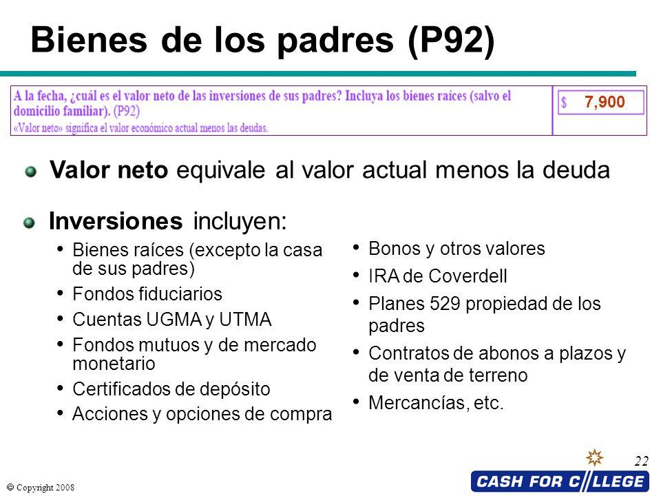 Bienes de los padres (P92)