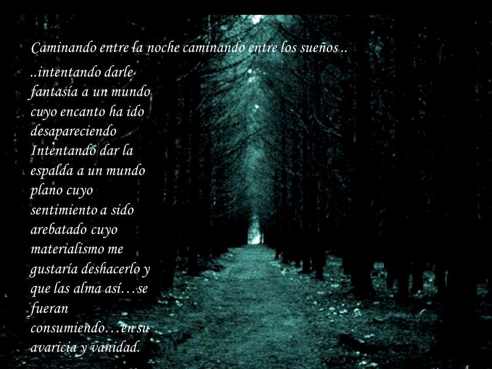 Caminando entre la noche caminando entre los sueños ..