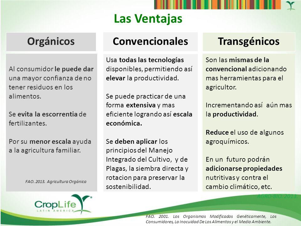 M xico abril 2013 ventajas y desventajas de los sistemas de producci n org nicos convencionales - Ventajas alimentos transgenicos ...