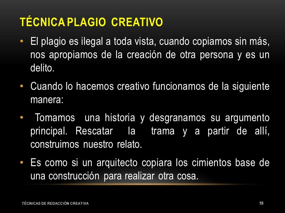 TÉCNICA Plagio creativo