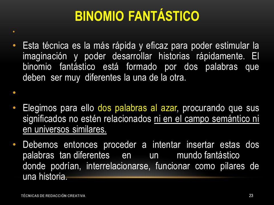 BINOMIO FANTÁSTICO