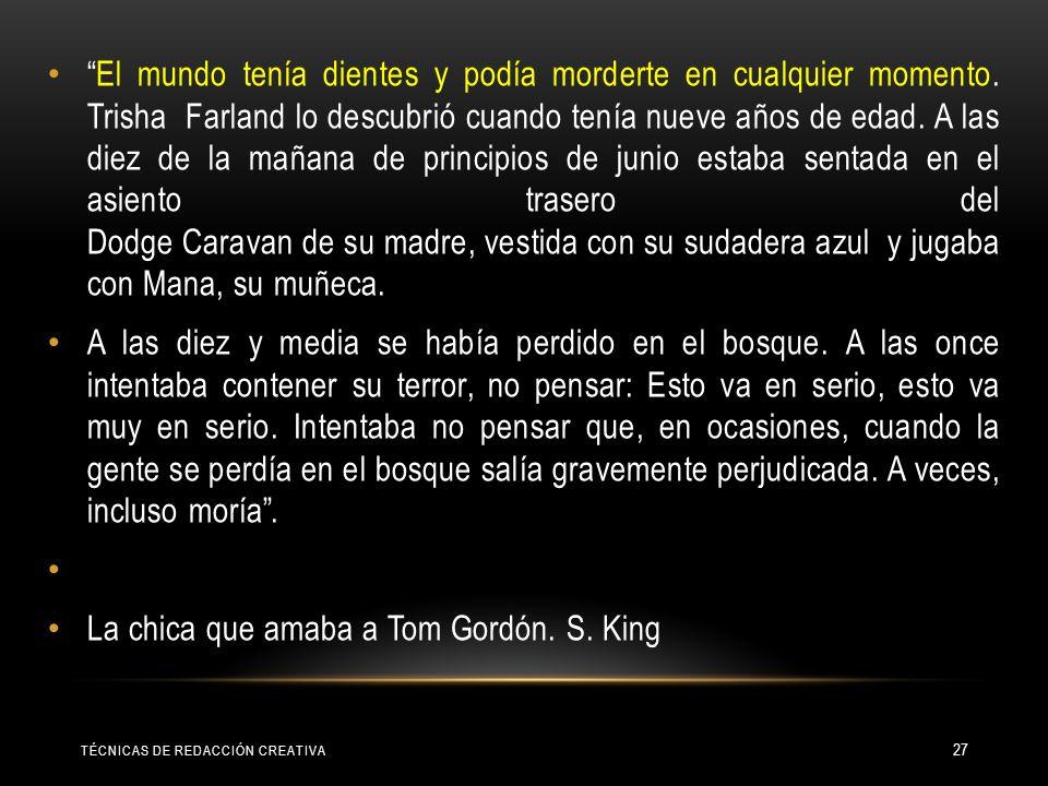 La chica que amaba a Tom Gordón. S. King