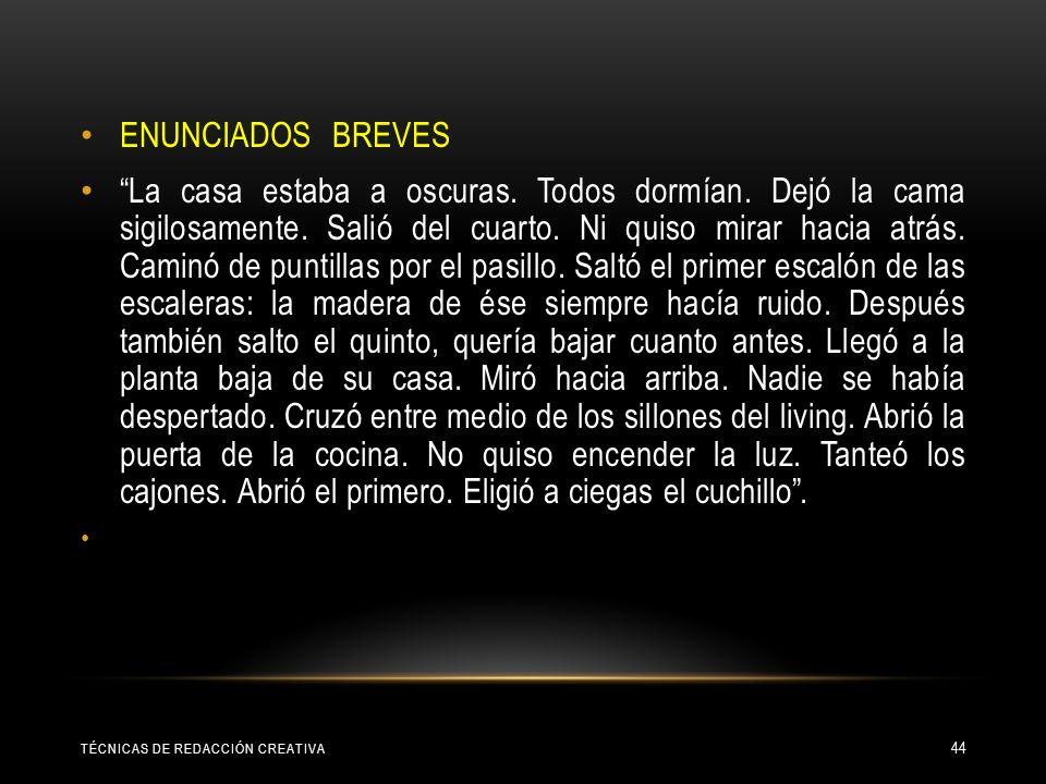 ENUNCIADOS BREVES