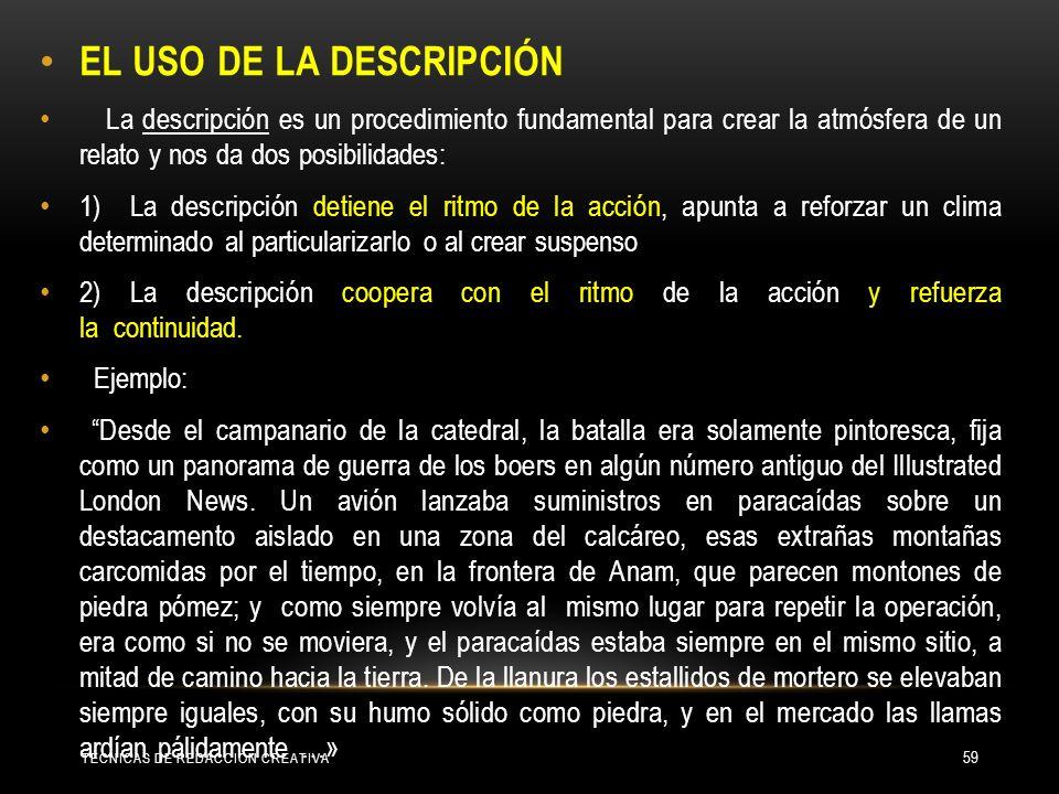 EL USO DE LA DESCRIPCIÓN