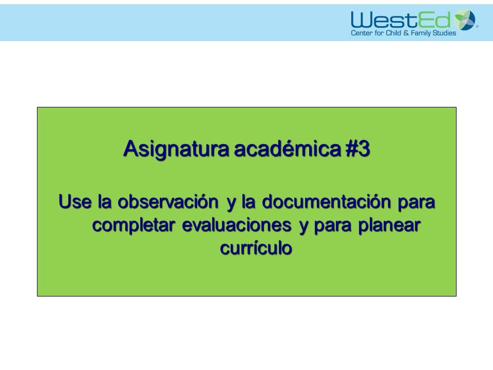 Asignatura académica #3