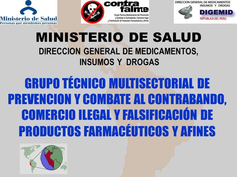 MINISTERIO DE SALUD DIRECCION GENERAL DE MEDICAMENTOS,