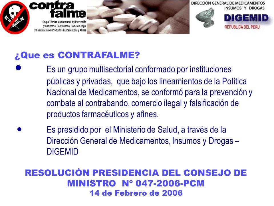 RESOLUCIÓN PRESIDENCIA DEL CONSEJO DE MINISTRO Nº 047-2006-PCM