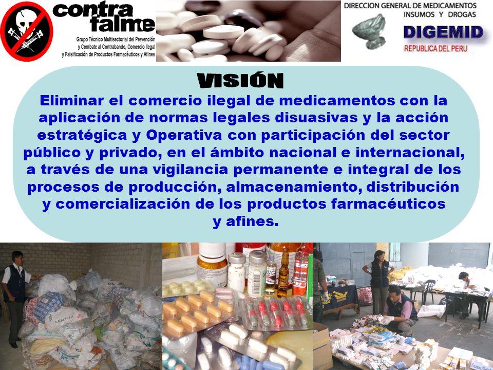 VISIÓN Eliminar el comercio ilegal de medicamentos con la