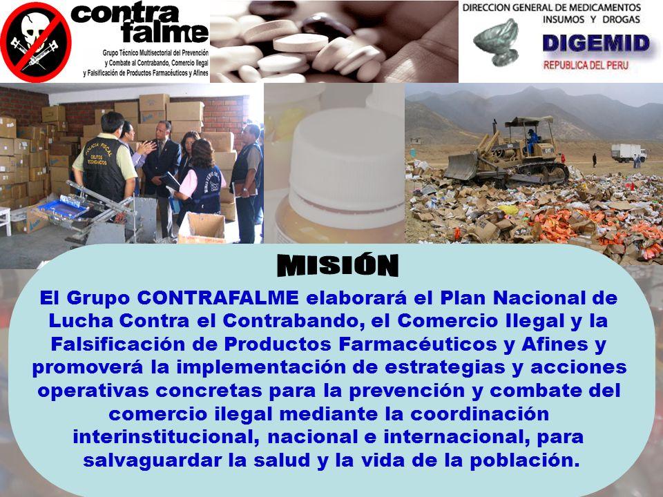 MISIÓN El Grupo CONTRAFALME elaborará el Plan Nacional de