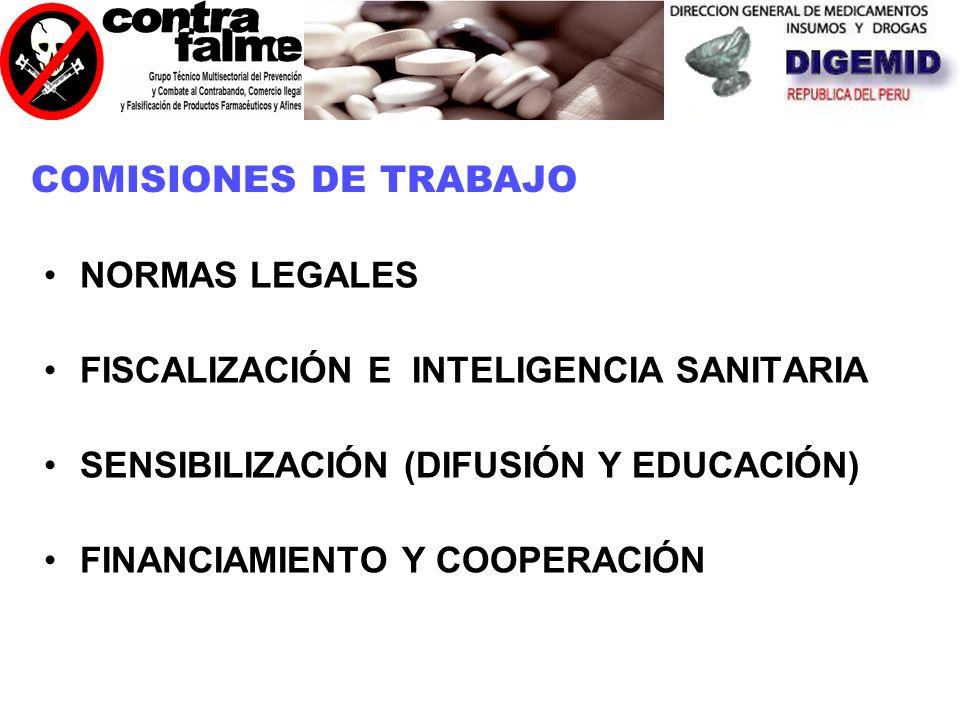 COMISIONES DE TRABAJO NORMAS LEGALES