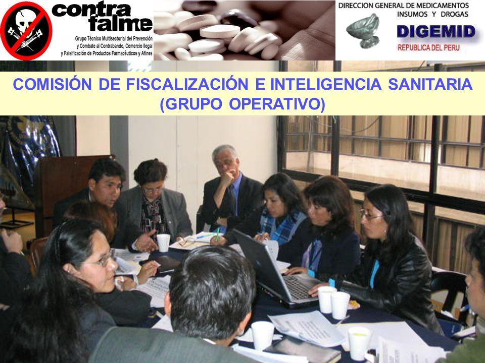 COMISIÓN DE FISCALIZACIÓN E INTELIGENCIA SANITARIA (GRUPO OPERATIVO)