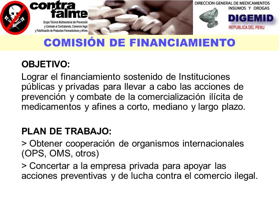 COMISIÓN DE FINANCIAMIENTO