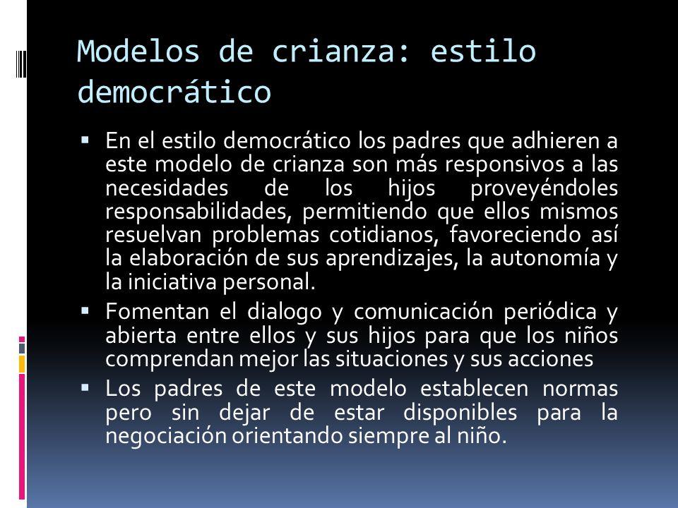 Modelos de crianza: estilo democrático